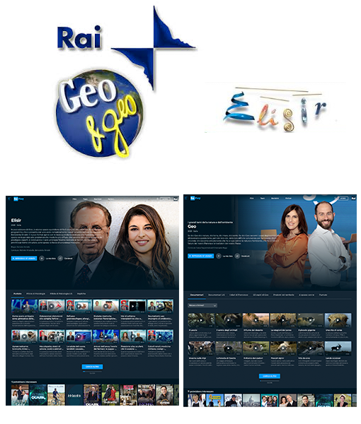Development of Websites for Elisir and Geo&Geo RAI TV shows