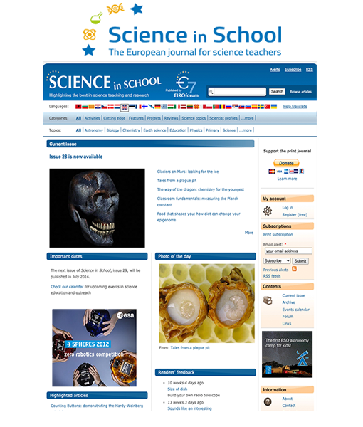 Development of Multilanguage Drupal Website for Science In School